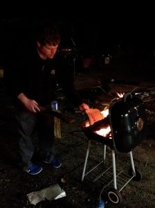 cold outside working on cars?  build a fire with your bbq haha
